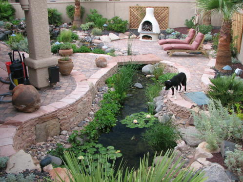 patio/pond landscape