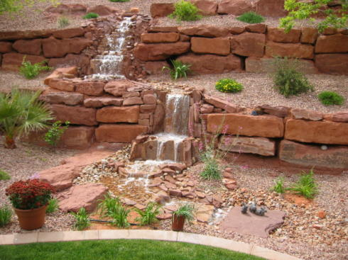 Back yard hill landscaping ideas car interior design for Landscape ideas for hilly backyards