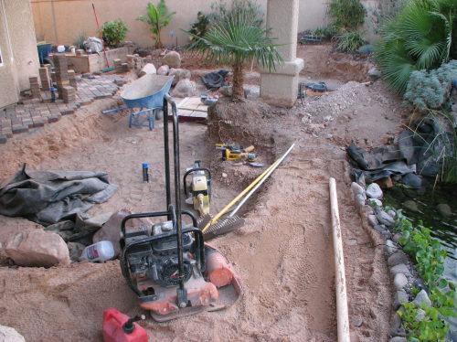 paver ground preparation
